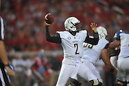 Vanderbilt Commodores quarterback Johnny McCrary (2) vs. Mississippi Rebels at Vaught-Hemingway Stadium at Ole Miss in Oxford, Miss. on Saturday, September 26, 2015. (AP Photo/Oxford Eagle, Bruce Newman)