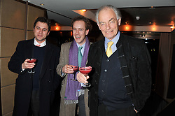 Left to right, THOMAS VAN STRAUBENZEE, TOM INSKIP and the MARQUESS OF READING at the Beulah AW13 Showcase, Bungalow 8 LFW Pop-Up at Belgraves - A Thompson Hotel, 20 Chesham Place, London SW1 on 13th February 2013.