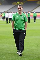 09/08/15 LADBROKES PREMIERSHIP<br /> PARTICK THISTLE v CELTIC<br /> FIRHILL - GLASGOW<br /> Celtic Manager Ronny Deila arrives at Firhill