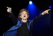 """Mick Jagger and The Rolling Stones perform at Soldier Field as part of their """"No Filter"""" tour in Chicago."""