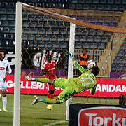 Torku Konyaspor's scores during their Turkish superleague soccer match Besiktas between Torku Konyaspor at Osmanli Stadium in Ankara Turkey on Monday 18 May 2015. Photo by Aykut AKICI/TURKPIX