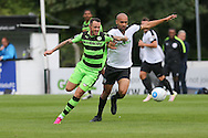 Forest Green Rovers Rhys Murphy (39) battles with Dovers Ross Lafayette during the Vanarama National League match between Dover Athletic and Forest Green Rovers at Crabble Athletic Ground, Dover, United Kingdom on 10 September 2016. Photo by Shane Healey.