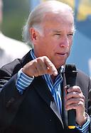 8/16/06 Des Moines. IASen. Joseph Biden speaks at an anti Wal Mart event in Des Moines Wednesday afternoon..(Chris Machian/Prairie Pixel Group)