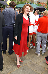 MRS GORDON BROWN  at the annual House of Lords v House of Commons tug of war match in aid of  of  Macmillan Cancer Relief on 22nd June 2004.  A drinks reception was held in College Gardens followd by the tug of war on Victoria Tower Gardens, London.