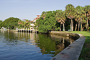 Quiet waterfront scenes along the New River in downtown Ft. Lauderdale.