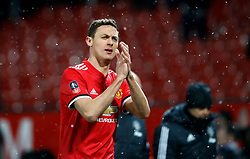Manchester United's Nemanja Matic applauds the fans after the Emirates FA Cup, quarter final match at Old Trafford, Manchester.
