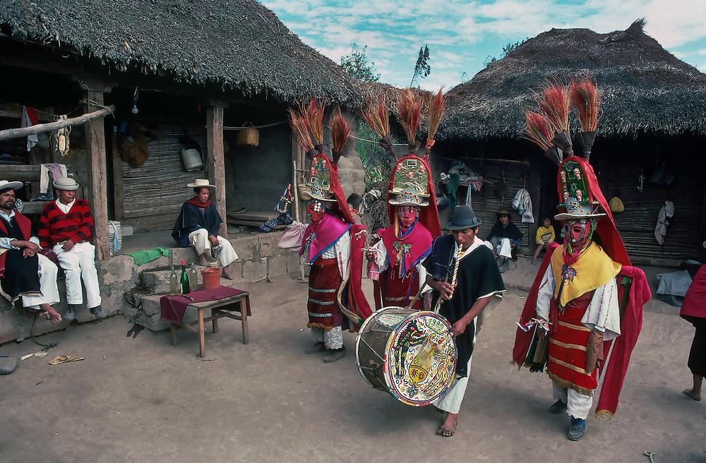 Dancers and Musicians in Costume on Corpus Christi, Salasaca