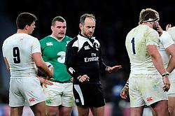 Referee Romain Poite - Mandatory byline: Patrick Khachfe/JMP - 07966 386802 - 27/02/2016 - RUGBY UNION - Twickenham Stadium - London, England - England v Ireland - RBS Six Nations.