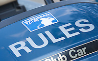 ZANDVOORT -  . Een referee  KLM OPEN golf 2015. COPYRIGHT KOEN SUYK