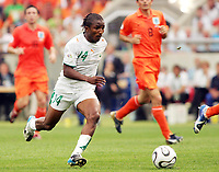 Photo: Chris Ratcliffe.<br /> Holland v Ivory Coast. Group C, FIFA World Cup 2006. 16/06/2006.<br /> Bakery Kone of Ivory Coast bursts through to score their first goal.