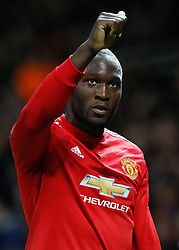 Manchester United's Romelu Lukaku leaves the pitch during the UEFA Champions League match at Old Trafford, Manchester.