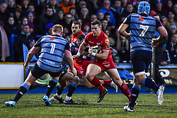 Scarlets' Scott Williams in action - Mandatory by-line: Craig Thomas/Replay images - 31/12/2017 - RUGBY - Cardiff Arms Park - Cardiff , Wales - Blues v Scarlets - Guinness Pro 14
