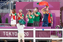 Kiss and Cry, Team Portugal<br /> Olympic Games Tokyo 2021<br /> © Hippo Foto - Dirk Caremans<br /> 24/07/2021