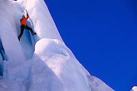 Ice climbing at Worthington Glacier, near Valdez, Alaska