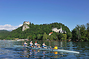 Bled, SLOVENIA,  Para Rowing,  General Views of the start area, . at the 1st FISA World Cup. Rowing Course. Lake Bled.  Friday  28/05/2010 [Mandatory Credit Peter Spurrier/ Intersport Images]