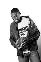 Green Bay Packers Greg Jennings poses for a portrait at his home in Kalamazoo, Mi on July 2,2012.<br /> ( Photo/Tom DiPace)