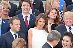 July 7, 2017 - Hamburg, Germany - Justin Trudeau, Sophia Gregoire, Emmanuel Macron, Melania Trump, Donald Trump.G20 SUMMIT: Reception and concert at Elbphilharmonie, Hamburg, Germany - 07 Jul 2017.Credit: Timm/face to face (Credit Image: © face to face via ZUMA Press)