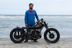 Frenchman Frederick Fosse on his Indian racer at TROG (The Race Of Gentlemen). Wildwood, NJ. USA. Sunday June 10, 2018. Photography ©2018 Michael Lichter.