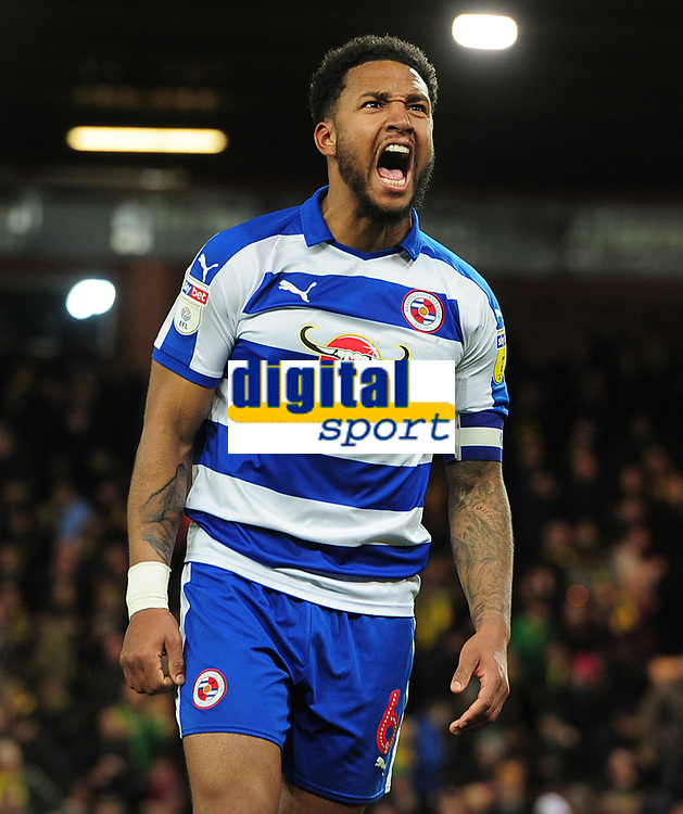 Football - 2018 / 2019 Sky Bet EFL Championship - Norwich City vs. Reading<br /> <br /> Reading Captain Liam Moore celebrates after a dramatic last equaliser, at Carrow Road.<br /> <br /> COLORSPORT/ANDREW COWIE