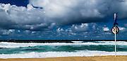 Beach Closed, Merewether Beach, East Coast Australia