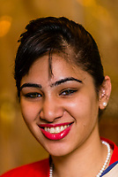 Indian woman, Hotel the Royal Plaza, New Delhi, India.