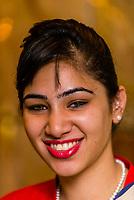 Indian woman, Hotel the Royal Plaza, New Delhi, India.