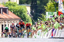 Phil BAUHAUS of BAHRAIN VICTORIOUS and peloton during the 5th Stage of 27th Tour of Slovenia 2021 cycling race between Ljubljana and Novo mesto (175,3 km), on June 13, 2021 in Slovenia. Photo by Matic Klansek Velej / Sportida