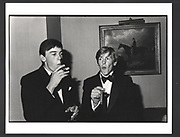 William Nott and Edward Hoare at the Grattan-Bellew/Sebag-Montefiore/Courtauld dance. Boodles. London. 1981Exhibition in a Box