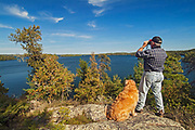 Hiker on Crow (Kakagi) Lake<br />