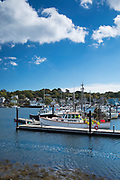 Fishermen's boats at Gloucester Harbor on the North Shore of the West Atlantic Ocean, Massachusetts, USA