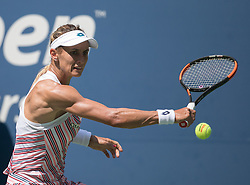 September 5, 2018 - Flushing Meadows, New York, U.S - Lesia Tsurenko during her match against Naomi Osaka on Day 10 of the 2018 US Open at USTA Billie Jean King National Tennis Center on Wednesday September 5, 2018 in the Flushing neighborhood of the Queens borough of New York City.  Osaka defeats Tsurenko, 6-1, 6-1. (Credit Image: © Prensa Internacional via ZUMA Wire)