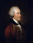 John Montagu, 4th Earl of Sandwich' (1718-1792) British aristocrat and politician, originator of the sandwich.  Cook named Sandwich Islands after him. Johann Zoffany or Zauffelij (1733–1810) German painter, active mainly in England.