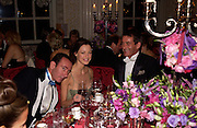Robert Hanson, Melissa Milne and tim Jefferies, Ball at Blenheim Palace in aid of the Red Cross, Woodstock, 26 June 2004. SUPPLIED FOR ONE-TIME USE ONLY-DO NOT ARCHIVE. © Copyright Photograph by Dafydd Jones 66 Stockwell Park Rd. London SW9 0DA Tel 020 7733 0108 www.dafjones.com