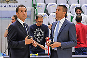 DESCRIZIONE : Campionato 2014/15 Serie A Beko Dinamo Banco di Sardegna Sassari - Grissin Bon Reggio Emilia Finale Playoff Gara6<br /> GIOCATORE : Tolga Sahin Roberto Begnis<br /> CATEGORIA : Arbitro Referee Before Pregame<br /> SQUADRA : AIAP<br /> EVENTO : LegaBasket Serie A Beko 2014/2015<br /> GARA : Dinamo Banco di Sardegna Sassari - Grissin Bon Reggio Emilia Finale Playoff Gara6<br /> DATA : 24/06/2015<br /> SPORT : Pallacanestro <br /> AUTORE : Agenzia Ciamillo-Castoria/C.Atzori