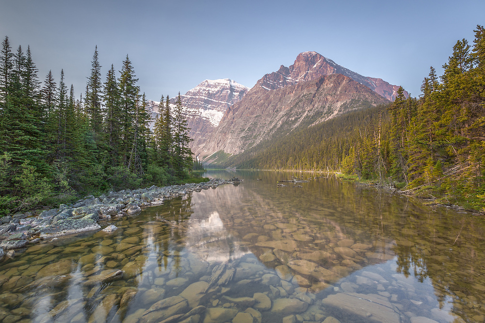 """""""I go to nature to be soothed and healed, and to have my senses put in order."""" ~John Burroughs<br /> <br /> Early morning reflections taken at Mount Edith Cavell,  Jasper National Park, Alberta Canada."""