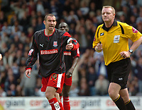 Photo: Tony Oudot.<br /> Queens Park Rangers v Stoke City. Coca Cola Championship. 06/05/2007.<br /> Danny Higginbotham of Stoke City complains to the referee after they had a goal disallowed