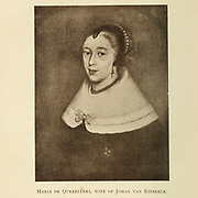 Maria de Querelleri, wife of Johan (Jan) van Riebeeck From the Book  ' Old Cape Colony; a chronicle of her men and houses from 1652-1806 ' by Trotter, Alys Fane (Keatinge), Mrs Publication date 1903 published by Westminster : A. Constable & co., ltd.