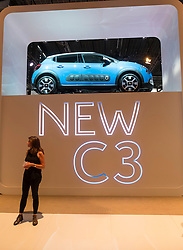 Citroen stand with new C3 at Paris Motor Show 2016