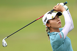 March 2, 2019 - Singapore - Lydia Ko of New Zealand plays a shot on the 1st hole during the third round of the Women's World Championship at the Tanjong Course, Sentosa Golf Club. (Credit Image: © Paul Miller/ZUMA Wire)