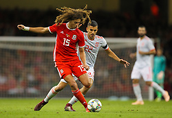 October 11, 2018 - Cardiff City, Walles, United Kingdom - Cardiff, Wales October 11, 2018.Ethan Ampadu of Wales passes the ball while under pressure from Dani Ceballos of Spain during Exhibition Match between Wales and Spain at Principality stadium, Cardiff City, on 11 Oct  2018. (Credit Image: © Action Foto Sport/NurPhoto via ZUMA Press)