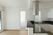 Interior, domestic kitchen of a modern apartment