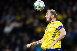 November 20, 2018 - Stockholm, SVERIGE - 181120 Andreas Granqvist of Sweden during the Nations League football match between Sweden and Russia on November 20, 2018 in Stockholm. (Credit Image: © Andreas L Eriksson/Bildbyran via ZUMA Press)