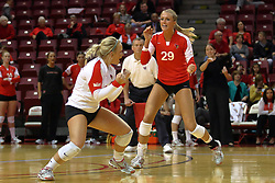 21 November 2009: Kasey Mollerus and Mallory Leggett. The Missouri State Lady Bears take on the Illinois State Lady Redbirds at Redbird Arena on the campus of Illinois State University in Normal Illinois.