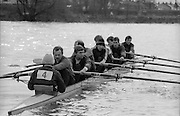 Chiswick. London.<br /> Eights starting from Mortlake<br /> National squard, Lightweight<br /> 1987 Head of the River Race over the reversed Championship Course Mortlake to Putney on the River Thames. Saturday 28.03.1987. <br /> <br /> [Mandatory Credit: Peter SPURRIER;Intersport images] 1987 Head of the River Race, London. UK