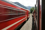 Zillertal, Tyrol, Austria, Steam hauled tourist train on the narrow gauge Zillertalbahn