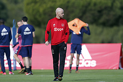 Coach Erik ten Hag of Ajax during a training session of Ajax Amsterdam at the Cascada Resort on January 10, 2018 in Lagos, Portugal
