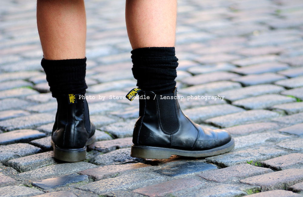 Man Wearing Dr. Martens Chelsea Boots