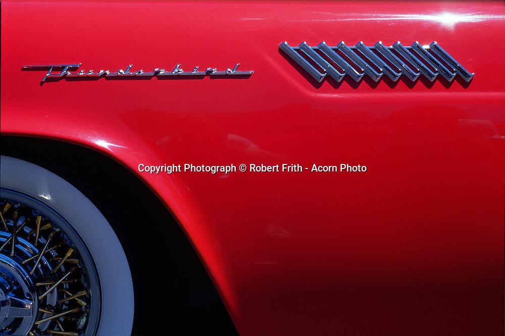 Show and Shine<br /> 1956 Ford Thunderbird detail, Los Gatos, California