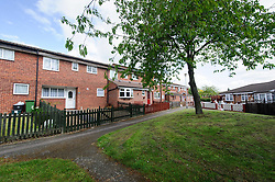 © Licensed to London News Pictures. 21/05/2015London, UK. A general view of Elderbek Close, Cheshunt, Herts. Carl Wood, 58, of Elderbek Close along with 7 other men has been charged with plotting a raid in London's Hatton garden jewellery district. Photo credit : Simon Jacobs/LNP