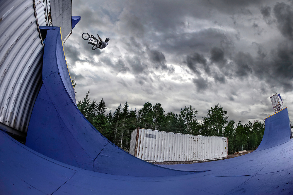 Mykel Larrin performs a Lookback at Red Bull Uncontainable in Truro, Canada on July 31st, 2015.